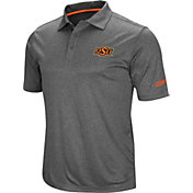 Colosseum Men's Oklahoma State Cowboys Grey Cut Shot Polo