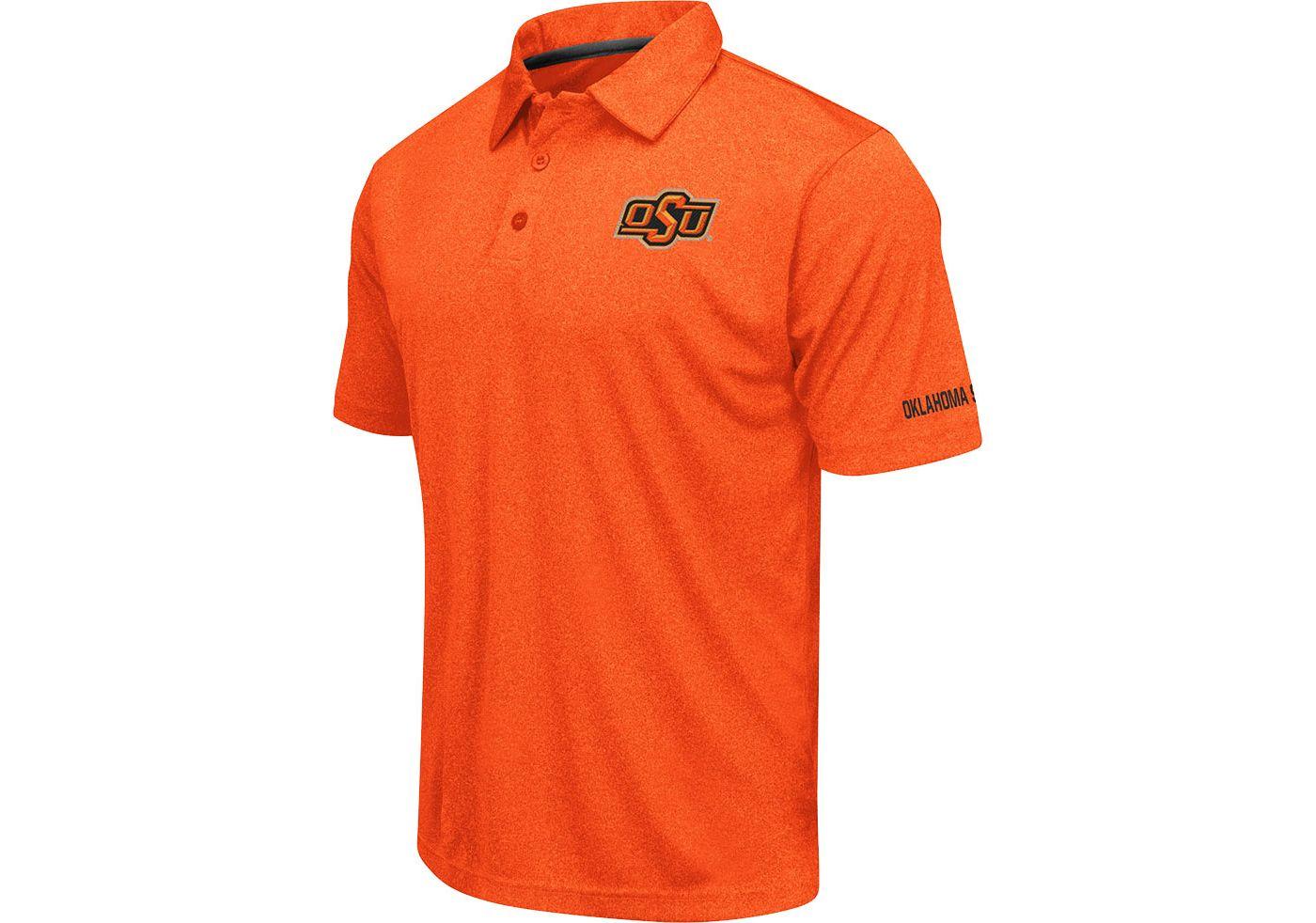 Colosseum Men's Oklahoma State Cowboys Orange Axis Polo