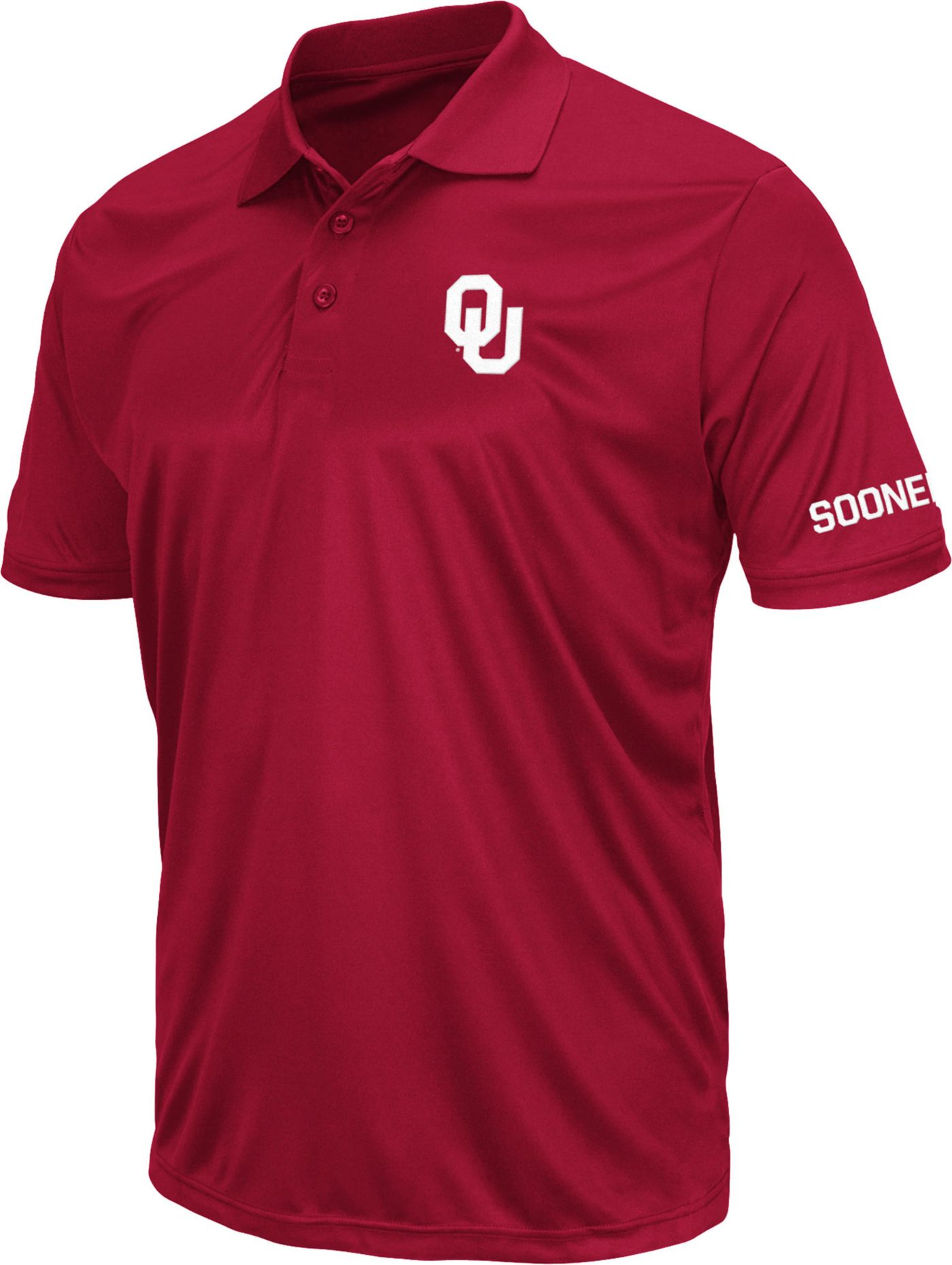 Colosseum Men's Oklahoma Sooners Crimson Stance Polo