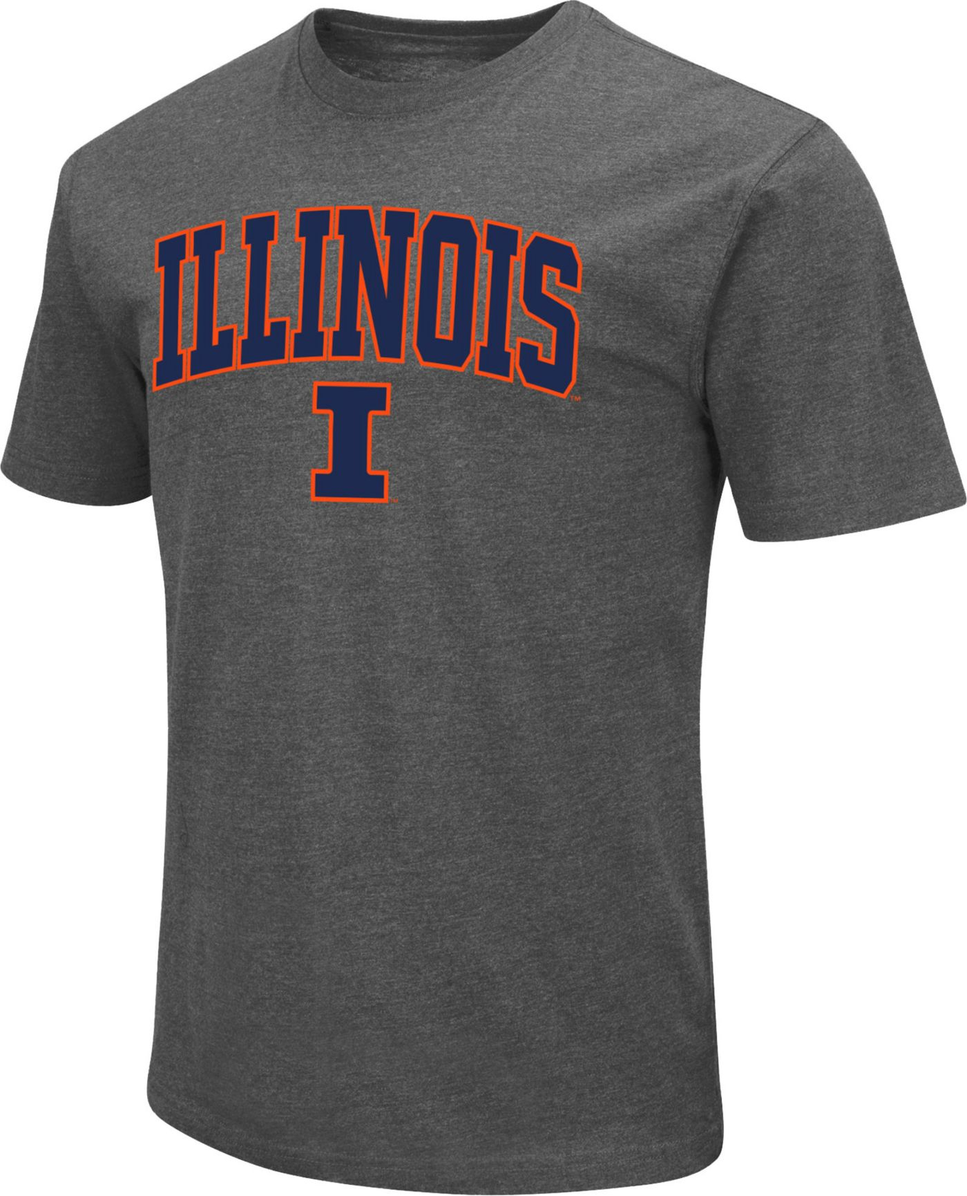 Colosseum Men's Illinois Fighting Illini Grey Dual Blend T-Shirt