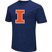 Colosseum Men's Illinois Fighting Illini Blue Dual Blend T-Shirt
