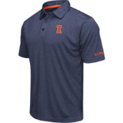 Colosseum Men's Illinois Fighting Illini Blue Axis Polo