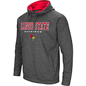 Colosseum Men's Illinois State Redbirds Grey Fleece Hoodie
