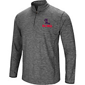 Colosseum Men's Ole Miss Rebels Grey Action Pass Quarter-Zip Shirt