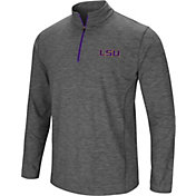 Colosseum Men's LSU Tigers Grey Action Pass Quarter-Zip Shirt