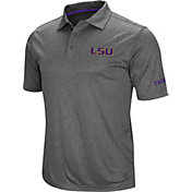 Colosseum Men's LSU Tigers Grey Cut Shot Polo