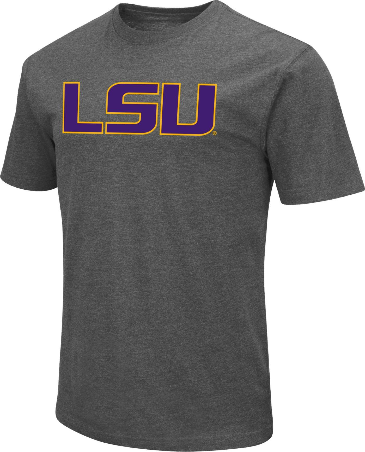 Colosseum Men's LSU Tigers Grey Dual Blend T-Shirt