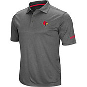 Colosseum Men's Louisville Cardinals Grey Cut Shot Polo