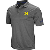 Colosseum Men's Michigan Wolverines Grey Cut Shot Polo