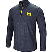 Colosseum Men's Michigan Wolverines Blue Action Pass Quarter-Zip Shirt