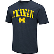 Colosseum Men's Michigan Wolverines Blue Dual Blend T-Shirt