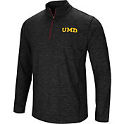 Colosseum Athletics Men's Minnesota-Duluth  Bulldogs Action Pass Quarter-Zip Black Shirt