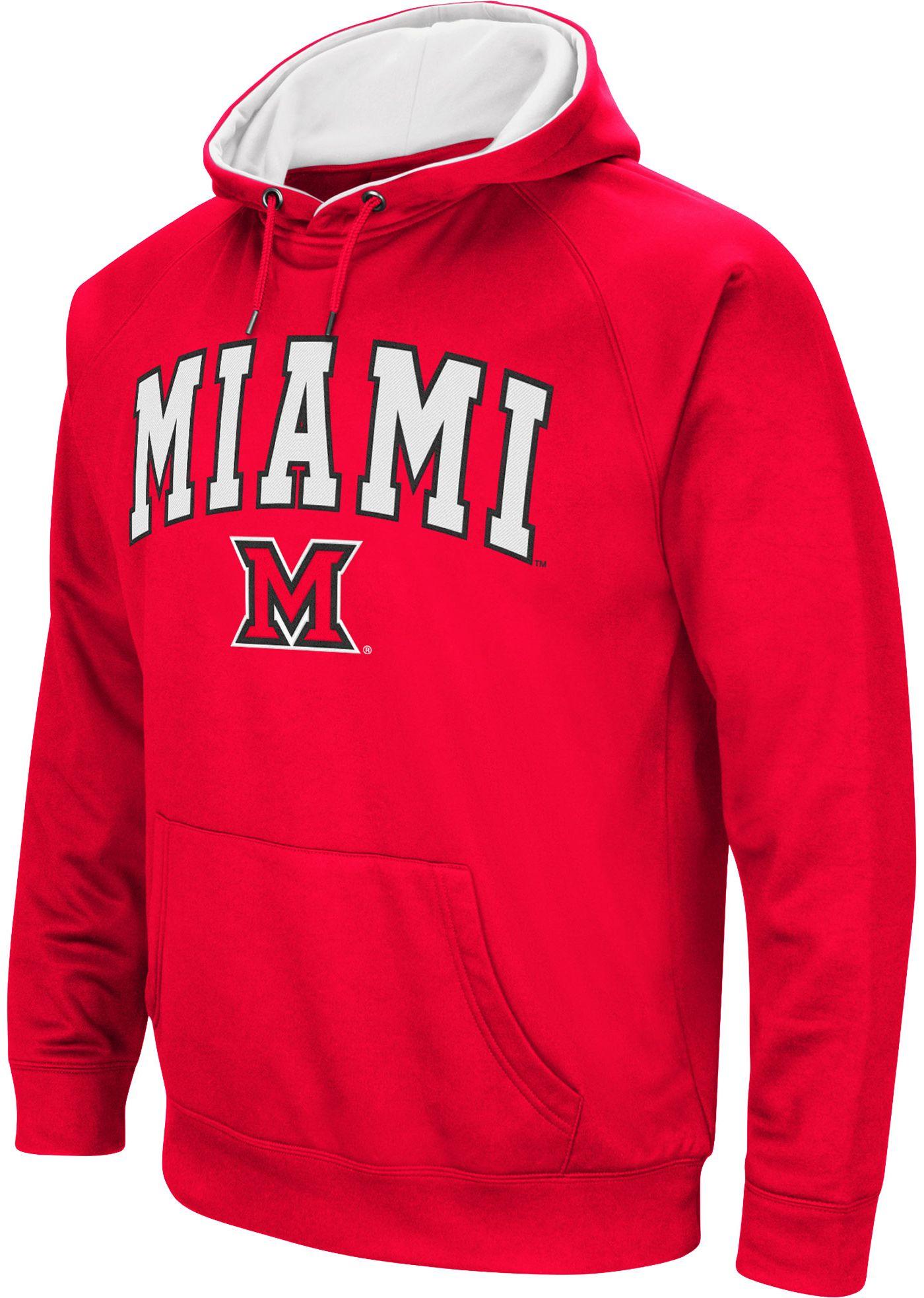 Colosseum Men's Miami RedHawks Red Fleece Hoodie