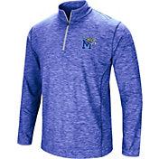 Colosseum Athletics Men's Memphis Tigers Blue Action Pass Quarter-Zip Shirt