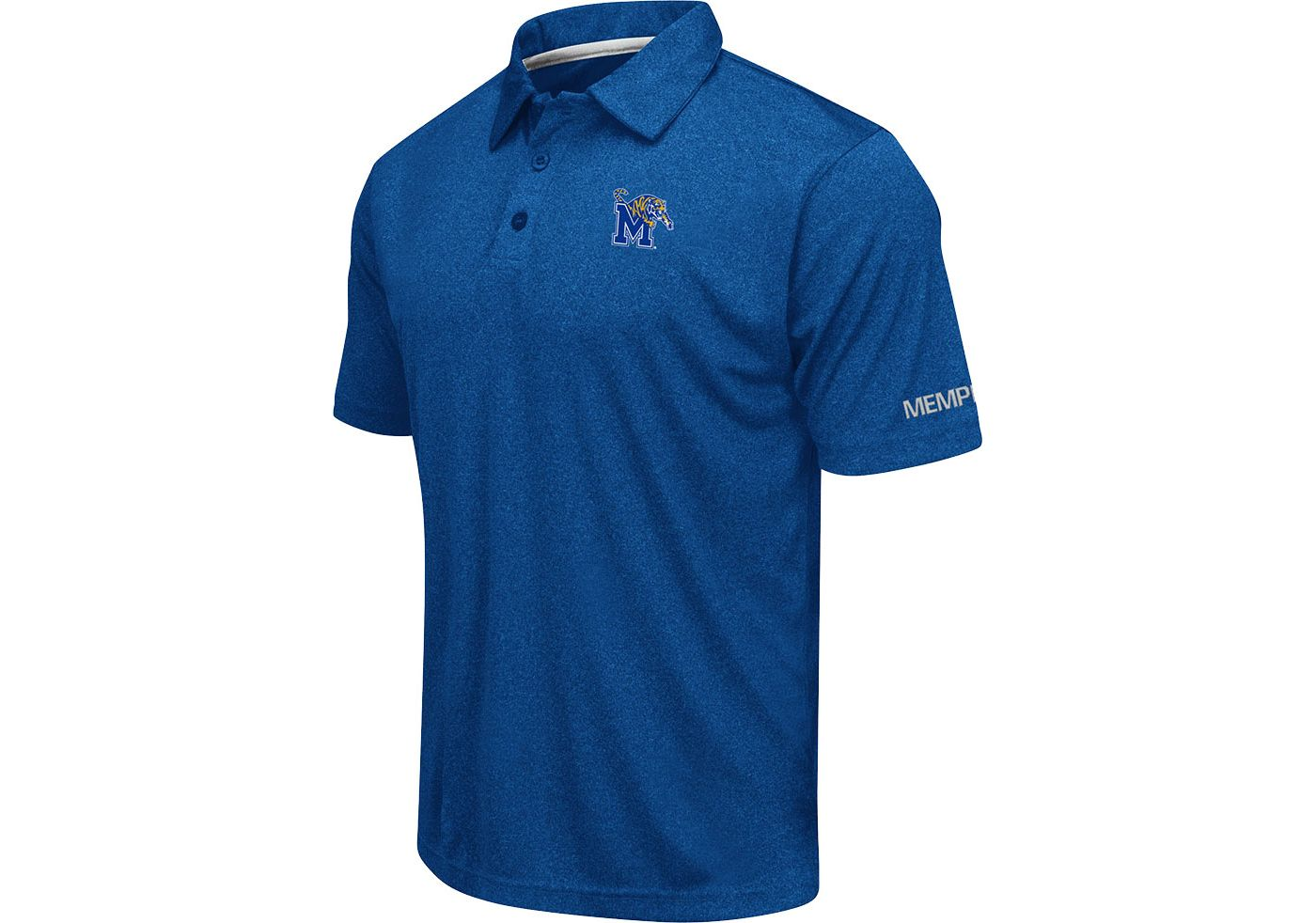 Colosseum Men's Memphis Tigers Blue Axis Polo