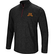 Colosseum Men's Minnesota Golden Gophers Black Action Pass Quarter-Zip Shirt