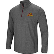 Colosseum Men's Minnesota Golden Gophers Grey Action Pass Quarter-Zip Shirt