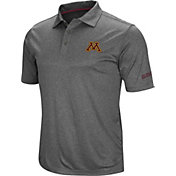 Colosseum Men's Minnesota Golden Gophers Grey Cut Shot Polo