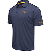 Colosseum Men's Marquette Golden Eagles Blue Axis Polo