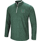 Colosseum Men's Marshall Thundering Herd Green Action Pass Quarter-Zip Shirt