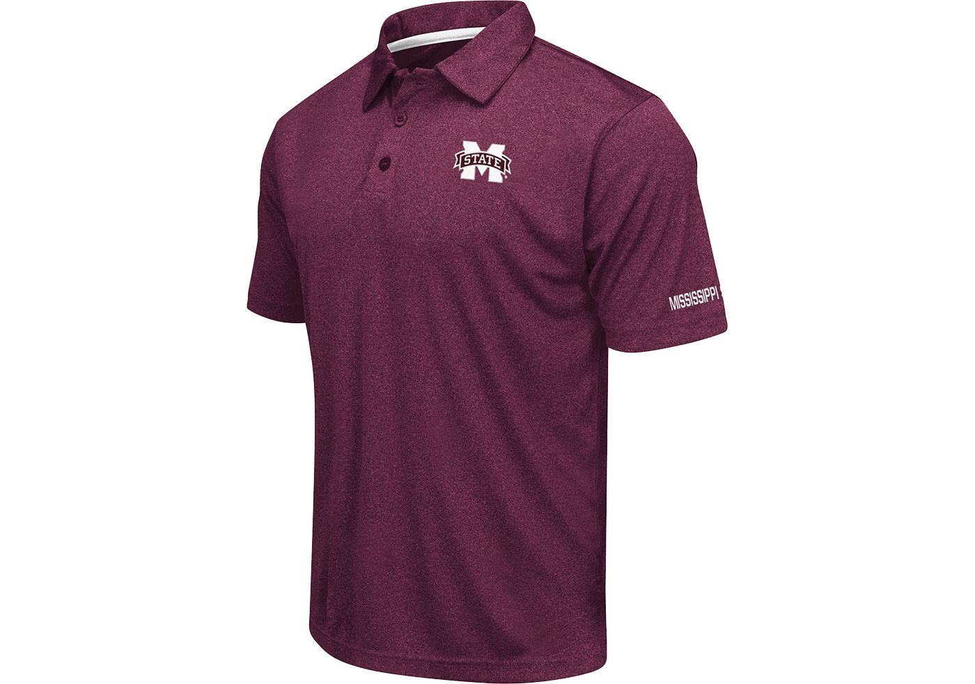 Colosseum Men's Mississippi State Bulldogs Maroon Axis Polo