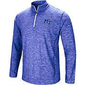 Colosseum Athletics Men's Middle Tennessee State Blue Raiders Blue Action Pass Quarter-Zip Shirt