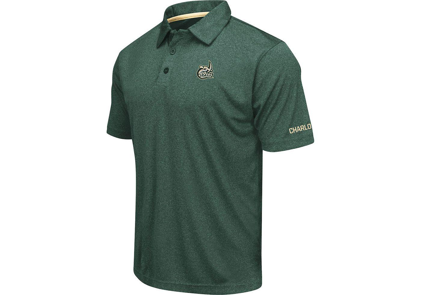 Colosseum Men's Charlotte 49ers Green Axis Polo