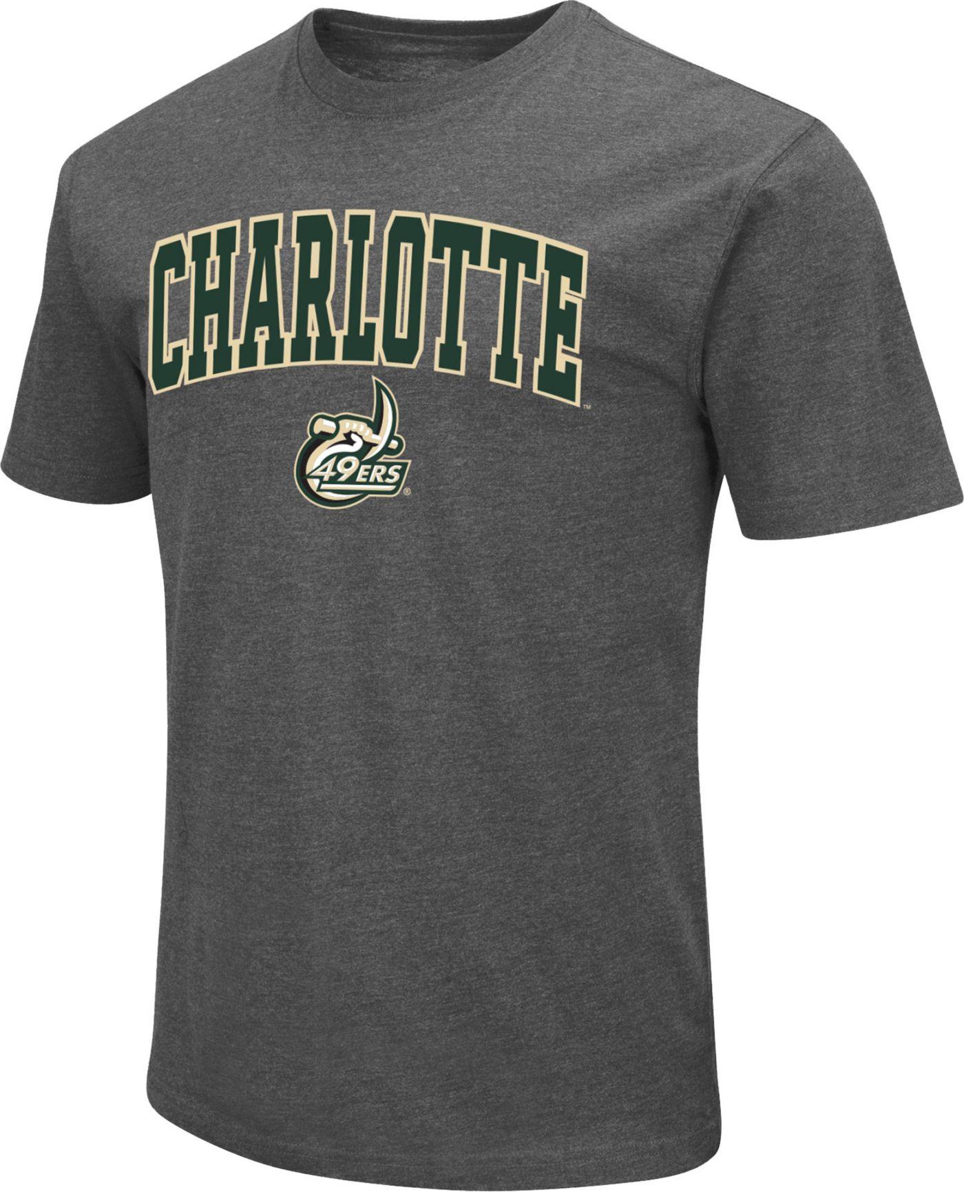 Colosseum Men's Charlotte 49ers Grey Dual Blend T-Shirt
