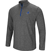 Colosseum Men's UNC Asheville Bulldogs Grey Action Pass Quarter-Zip Shirt