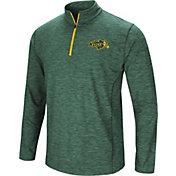 Colosseum Athletics Men's North Dakota State Bison Green Action Pass Quarter-Zip Shirt