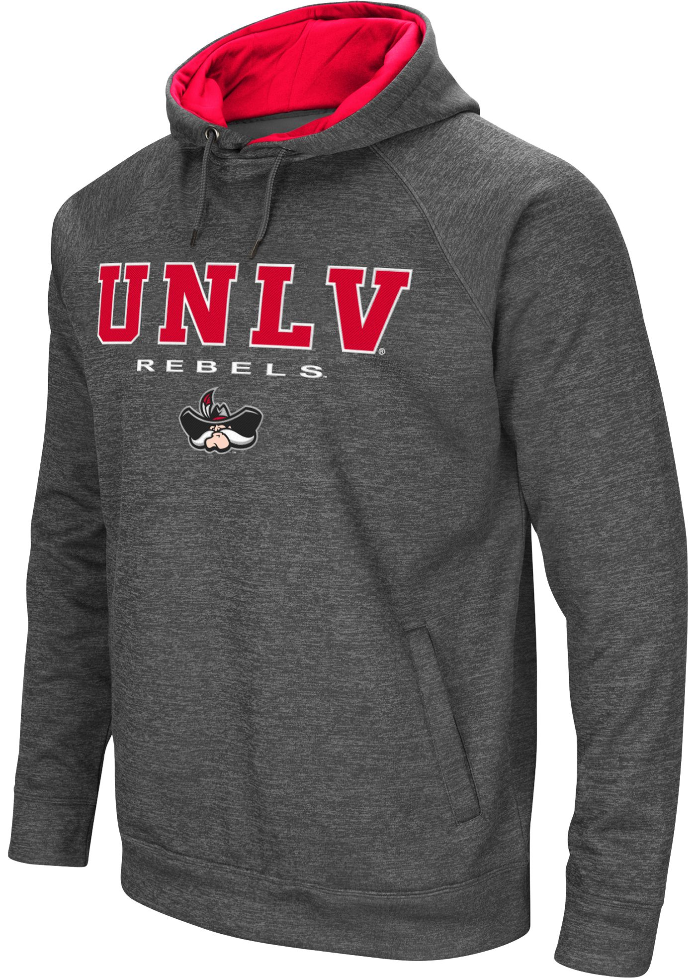 Colosseum Men's UNLV Rebels Grey Fleece Hoodie