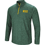 Colosseum Athletics Men's Norfolk State Spartans Green Action Pass Quarter-Zip Shirt