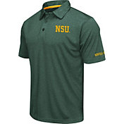 Colosseum Men's Norfolk State Spartans Green Axis Polo