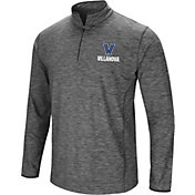 Colosseum Men's Villanova Wildcats Grey Action Pass Quarter-Zip Shirt