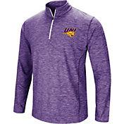 Colosseum Athletics Men's Northern Iowa Panthers  Purple Action Pass Quarter-Zip Shirt