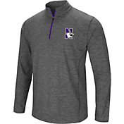 Colosseum Men's Northwestern Wildcats Grey Action Pass Quarter-Zip Shirt