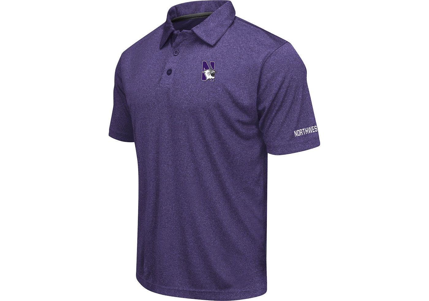 Colosseum Men's Northwestern Wildcats Purple Axis Polo