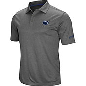 Colosseum Men's Penn State Nittany Lions Grey Cut Shot Polo