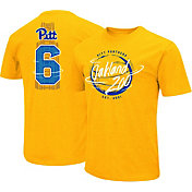 Colosseum Men's Pittsburgh Panthers Gold 'Oakland Zoo' Throwback Basketball T-Shirt
