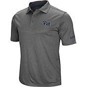 Colosseum Men's Pitt Panthers Grey Cut Shot Polo