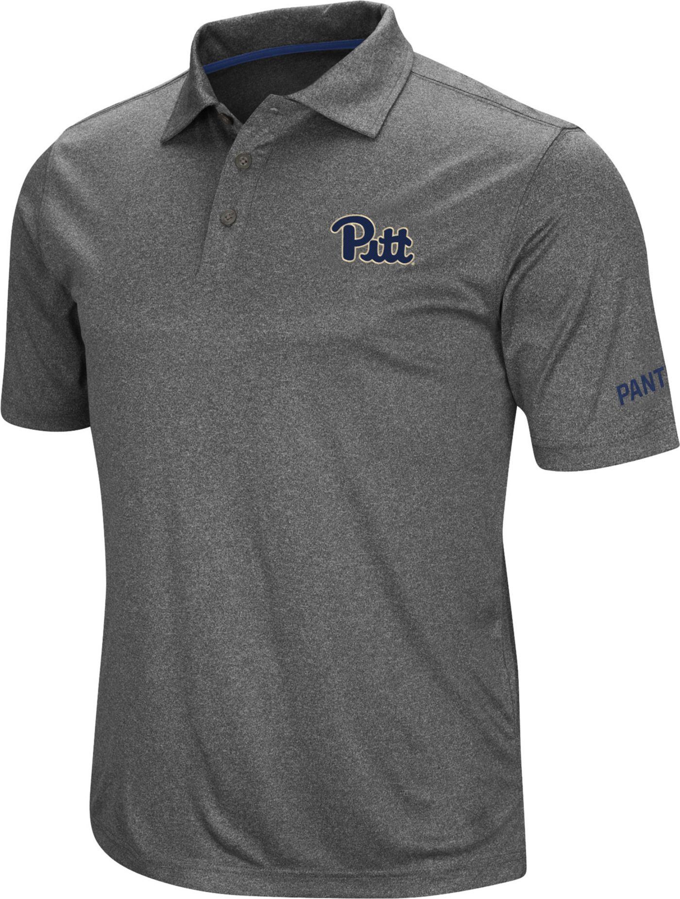 Colosseum Men's Pitt Panthers Grey Cut Shot Polo