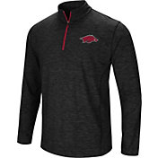 Colosseum Men's Arkansas Razorbacks Black Action Pass Quarter-Zip Shirt