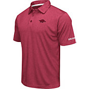 Colosseum Men's Arkansas Razorbacks Cardinal Axis Polo