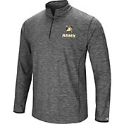 Colosseum Men's Army West Point Black Knights Grey Action Pass Quarter-Zip Shirt