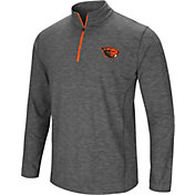 Colosseum Men's Oregon State Beavers Grey Action Pass Quarter-Zip Shirt