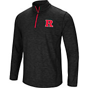 Colosseum Athletics Men's Rutgers Scarlet Knights Action Pass Quarter-Zip Black Shirt