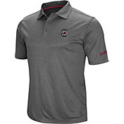 Colosseum Men's South Carolina Gamecocks Grey Cut Shot Polo