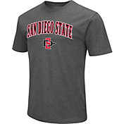 Colosseum Men's San Diego State Aztecs Grey Dual Blend T-Shirt