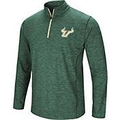 Colosseum Athletics Men's South Florida Bulls Green Action Pass Quarter-Zip Shirt
