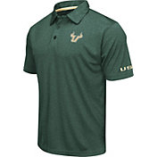 Colosseum Men's South Florida Bulls Green Axis Polo